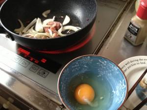 カルボナーラ卵