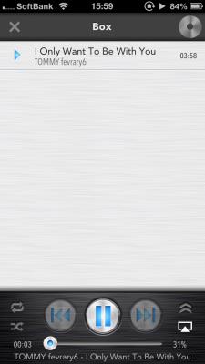 クラウドミュージックプレイヤー再生画面