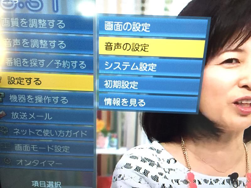 テレビ音声設定