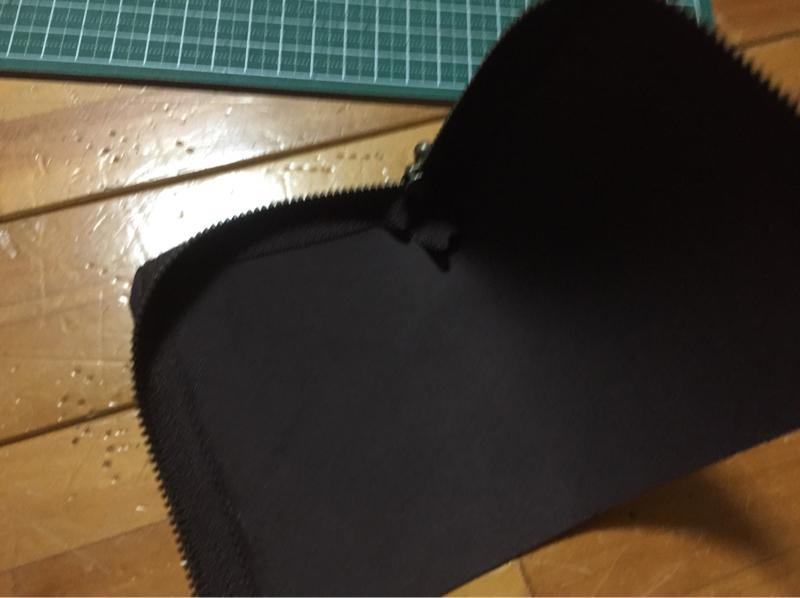 L字ファスナー財布作り方5