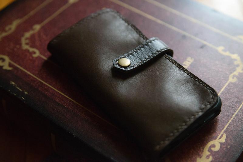 レザークラフトiPhoneケース作り方9